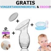Siliconen borstkolf met deksel| Handkolf | Moedermelk kolf | Kolfapparaat | Borstvoeding bewaren| Dapoda Products
