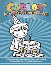 Carlos' Birthday Coloring Book Kids Personalized Books
