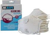 M-Safe 6210, P2 Wegwerp stofmaskers 10 stuks