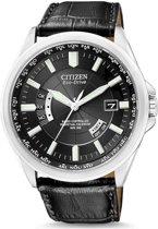 Citizen Promaster Evolution 5 World Timer - Horloge - Leer - 43 mm - Zilverkleurig / Zwart - Solar uurwerk