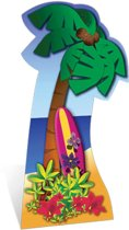 Groot decoratie bord Palmboom
