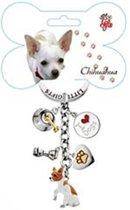 Little Gifts sleutelhanger Chihuahua gekleurd