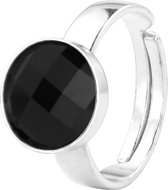 ARLIZI 0954 Ring Swarovski Kristal - Dames - 925 Sterling Zilver - 10 mm - Zwart