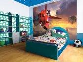 Fotobehang Papier Disney, Big Hero 6 | Rood | 254x184cm