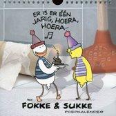 Fokke & Sukke Verjaardagskalender - Humor - Poepkalender - Vierkant - 21 x 21 x 1 cm