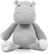 Jollein Soft knit Knuffel hippo lichtgrijs
