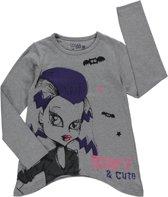 Losan Meisjes Shirt Grijs met opdruk - H40 - Maat 128