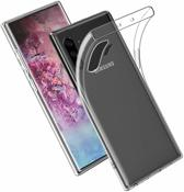 Epicmobile - Samsung Galaxy Note 10 Plus Transparant silicone hoesje – Schokabsorberend - Transparant