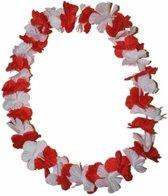 12 Hawaii kransen rood en wit