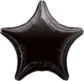 Folieballon Ster Zwart - 48 Cm