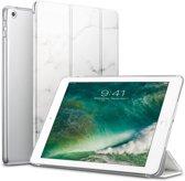 Apple iPad 9.7 (2017 / 2018) Hoes Marmer Wit Tri-Fold Book Case Cover Leer - Hoesje van iCall
