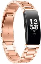 YONO Metalen Bandje Rose Gold voor Fitbit Inspire HR – Vervangend Premium RVS Armband met Horloge Inkort Set