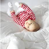 ZIZZZ Kinderdekbed van biokatoen en zuivere wol