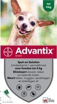 Bayer Advantix Spot On 40/200 tot 4Kg- 6 pip