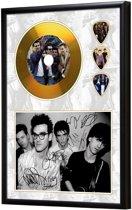 Golddiscdisplay met plectrums The Smiths ingelijst