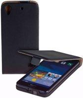 Lelycase Zwart Eco Leather Flip Case Voor Huawei Ascend G620s