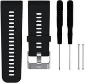 Siliconen Horloge Band Voor Garmin Vivoactive HR - Armband / Polsband / Strap Bandje / Sportband - Zwart