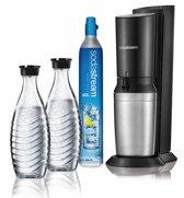 SodaStream Crystal Megapack Bruiswatertoestel - zwart - met 2 Glazen karaffen