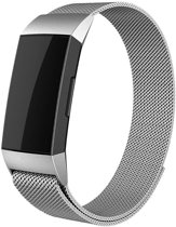 YONO Milanees bandje - Fitbit Charge 3 - Zilver - Large