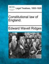Constitutional Law of England.