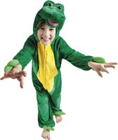 Onesie Kinderkostuum Krokodil Pluche - Maat 140 - Carnavalskleding