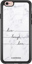 iPhone 6/6s glazen hardcase - Live, laugh, love