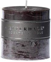 Riverdale Pillar - Geurkaars - Donkergrijs - 7.5x7.5 cm