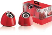 Sweex 2.0 speakerset 2x 3W - rood