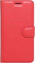 LG X5 horizontaal Litchi structuur PU leren Flip Hoesje met houder en opbergruimte voor pinpassen & geld (rood)