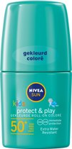 NIVEA SUN Kids Zonnebrand - Protect & Play Groene Roll-on - SPF 50+ - 50 ml