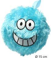 Kinderbal voor Binnen met Vrolijk Gezichtje – Zachte Bal 15cm – Blauw