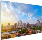 Skyline Peking Glas 30x20 cm - Foto print op Glas (Plexiglas wanddecoratie)