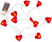 Valentijn - Rode hartjes lichtsnoer 120 cm