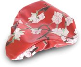 Basil Blossom Twig - Zadeldekje - Rode Bloesemprint