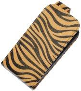 Bruin Zebra Classic Flip case hoesje voor Sony Xperia Z
