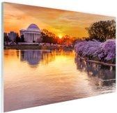 Jefferson Memorial Washington DC Glas 60x40 cm - Foto print op Glas (Plexiglas wanddecoratie)