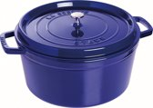 Staub Ronde Cocotte 30 cm - donkerblauw
