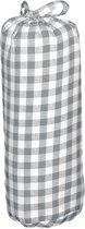 Taftan Hoeslakens Grote Ruit Grijs-70 x 140 cm