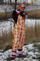 Tuinbroek met oranje Hollandprint voor volwassenen maat 52