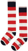 O'Chill kniekousen Stripe rood/wit - Maat 35-38
