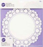Wilton Doilies White Grease-Proof -Round 25cm- pk/10
