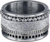 Quiges Dames Stapelring Set RVS Zilverkleurig - Maat 18.5 - Hoogte 10mm - SRS00218.5
