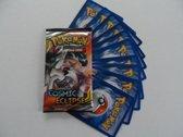 1 Pokemon Booster Cosmic Eclipse SM12 en 10 extra kaarten kado
