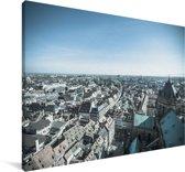 Uitzicht over de Franse stad Straatsburg Canvas 180x120 cm - Foto print op Canvas schilderij (Wanddecoratie woonkamer / slaapkamer) / Europese steden Canvas Schilderijen XXL / Groot formaat!