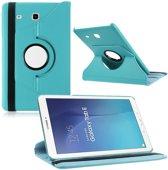 Samsung Galaxy Tab E 9.6 Inch SM - T560 / T561 Hoes Cover 360 graden draaibare Case Licht Blauw
