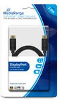 MediaRange DisplayPort™ connection cable, gold-plated contacts, 10 Gbit/s data transfer rate, 2.0m, black