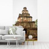 Fotobehang vinyl - Hindoeïstische tempels in Polonnaruwa Sri Lanka breedte 220 cm x hoogte 360 cm - Foto print op behang (in 7 formaten beschikbaar)