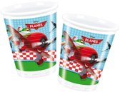 8x Planes party bekers - 200 ml - wegwerp
