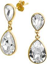 The Jewelry Collection Oorhangers - Zilver Geelgoudverguld