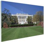 Witte Huis gazon Washington DC Glas 120x80 cm - Foto print op Glas (Plexiglas wanddecoratie)